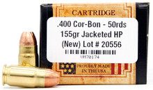 Ventura Heritage 400 Cor-Bon 155gr JHP Ammo - 50 Rounds