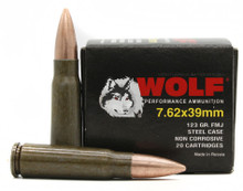 Wolf Performance 7.62x39mm 122gr FMJ Ammo - 1000 Rounds