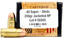 Ventura Heritage 40 Super 200gr JHP Ammo - 50 Rounds