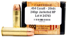 Ventura Heritage 454 Casull 240gr JHP Ammo - 20 Rounds