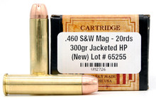 Ventura Heritage 460 S&W 300gr JHP Ammo - 20 Rounds