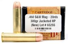 Ventura Heritage 460 S&W 300gr JHP Ammo - 20 Rounds