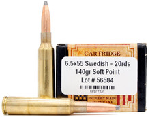 Ventura Heritage 6.5x55mm Swedish 140gr SP Ammo - 20 Rounds