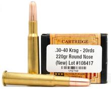 Ventura Heritage 30-40 Krag 220gr RN New Ammo - 20 Rounds