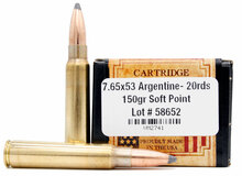 Ventura Heritage 7.65x53 Argentine 150gr SP Ammo - 20 Rounds