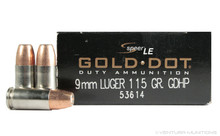Speer LE 9mm Luger 115gr Gold Dot HP 53614 Ammo - 50 Rounds