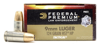 Federal Premium Law Enforcement 9mm 124gr HST Ammo - 50 Rounds