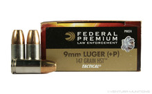 Federal Premium Law Enforcement 9mm 147gr +P LE HST - 50 Rounds