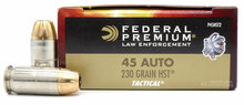 Federal Premium Law Enforcement 45 ACP 230gr HST FEDP45HST2 - 50 Rounds