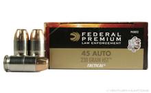 Federal Premium Law Enforcement 45 ACP 230gr +P HST FEDP45HST1 - 50 Rounds