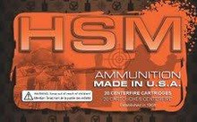 HSM 458 Winchester Magnum 500 gr RNSP Ammo - 20 Rounds