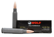 Wolf 223 Remington 55gr FMJ Ammo - 500 Rounds