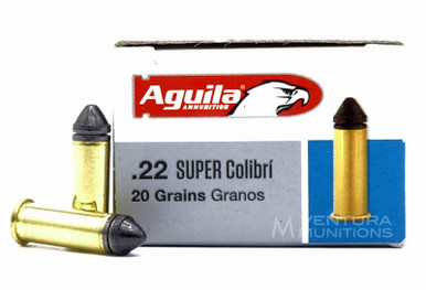 Aguila .22LR Super Colibri 20gr. Lead Pointed CB - 50 Rounds
