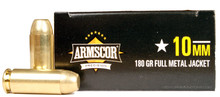 Armscor 10mm 180gr FMJ Ammo - 50 Rounds