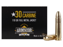 Armscor 30 Carbine 110gr FMJ Ammo - 50 Rounds