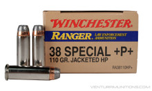 Winchester Ranger LE .38 Special +P+ 110gr JHP - 50 Rounds
