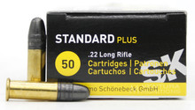 Lapua SK Standard Plus 22LR 40gr RN Ammo - 50 Rounds