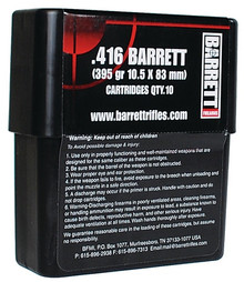 Barrett .416 Barrett 395gr Brass Solid - 10 Rounds