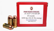 DRT .45 ACP 170gr TerminalShock™ Lead Free Defense Ammo  - 20 Rounds