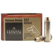 Federal Premium 357 Magnum 158gr Hydra-Shok® - 20 Rounds