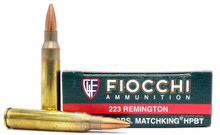 Fiocchi Exacta Match .223 69gr Matchking Ammo - 20 Rounds