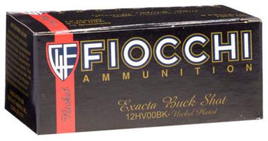 Fiocchi Exacta 12 Gauge High Velocity 00 Buck Ammo - 10 Rounds