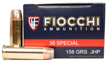 Fiocchi 38 Special 158gr JHP Ammo - 50 Rounds