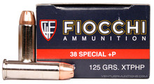 Fiocchi 38 Special +P 125gr XTP-JHP Ammo - 25 Rounds