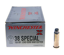 Winchester Super-X 38 Special 158gr Semi-Wadcutter Match Ammo - 50 Rounds