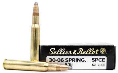 Sellier & Bellot .30-06 Springfield 150gr Soft Point Ammo - 20 Rounds