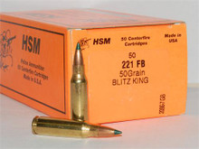 HSM 221 Fireball 50gr Blitzking- 50 rounds
