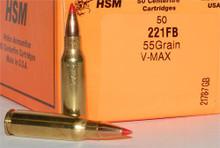 HSM .221 Fireball 55gr V-Max- 50 Rounds