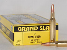HSM 6mm Remington 100gr Grand Slam- 20 Rounds