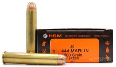 HSM 444 Marlin 300gr Speer JFP Ammo - 20 Rounds