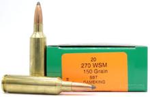 HSM 270 WSM 150gr BTSP Ammo - 20 Rounds