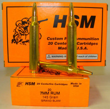HSM 7mm RUM 145gr. Grand Slam- 20 Rounds