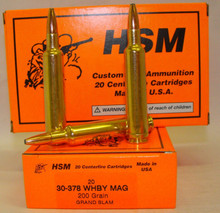 HSM 30-378 Weatherby 200gr Grand Slam- 20 Rounds