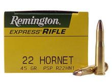 Remington 22 Hornet 45gr PSP   - 50 Rounds