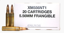 Federal 5.56x45mm 50gr Non-Toxic Frangible SP XM556NT1  -20 Rounds