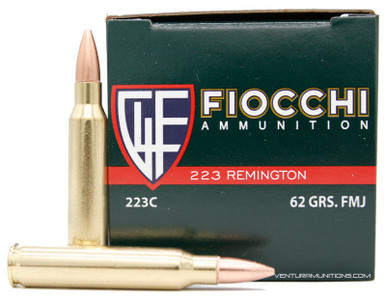 Fiocchi .223 Rem 62gr FMJ (Non-Magnetic) Ammo - 50 Rounds