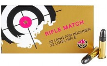 Lapua SK Rifle Match 22LR 40gr RN Ammo - 50 Round