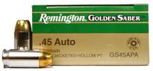 Remington Golden Saber .45 ACP 185gr BJHP Ammo - 25 Rounds