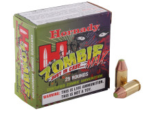 Hornady .380 ACP 90gr Z-MAX Zombie™ Max Ammo - 25 Rounds