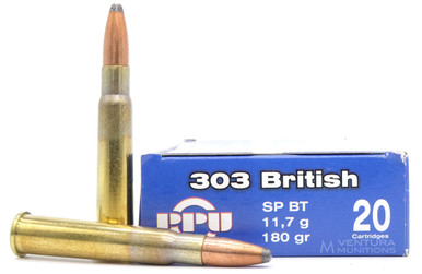 Prvi Partizan .303 British 180gr Soft Point Ammo - 20 Rounds
