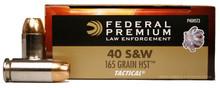 Federal Premium Law Enforcement 40 S&W LE 165gr HST P40HST3 - 50 Rounds