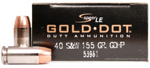 Speer LE 40 S&W 155gr Gold Dot HP 53961 - 50 Rounds