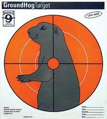 Hoppes Groundhog Paper Target 20/pk
