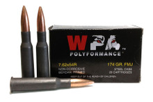 Wolf Polyformance 7.62x54r 174gr FMJ Ammo - 20 Rounds