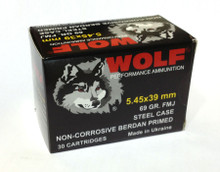 Wolf Polyformance 5.45x39mm 69gr FMJ Non-Corrosive Ammo - 30 Rounds