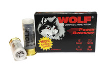 Wolf 12 Gauge 00 Power Buckshot Ammo - 5 Rounds
